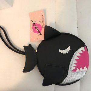 Betsy Johnson shark wristlet